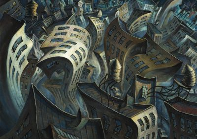 "Urban Undulations I, oil on canvas 30""x 40"""