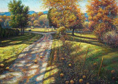 """Osage in Autumn II, oil on canvas 38"""" x 58"""""""