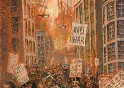 """No War, 21"""" x 14""""- 2001"""