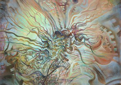 "Urban Jellyfish, pastel on paper 50"" x 38"""