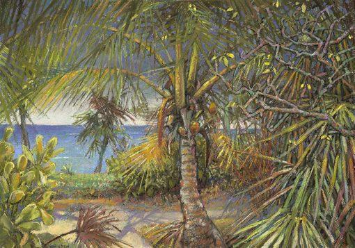 "Calypso Rain (Bahamas) 15"" x 21"" pastel on paper"