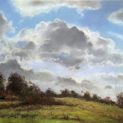 "Clouds over Virginia 17"" x 22"" pastel on paper"