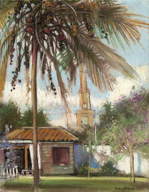 """Hosteria Su Merced (Ecuador) 11"""" x 9"""" pastel on paper"""