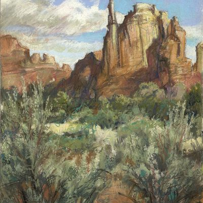 "Kodachrome State Park (Utah) 21"" x 14"" pastel on paper"
