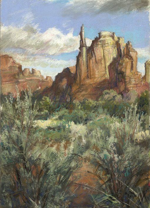"Kodachrome State Park (Utah) 21"" x 14"" pastel on paper"