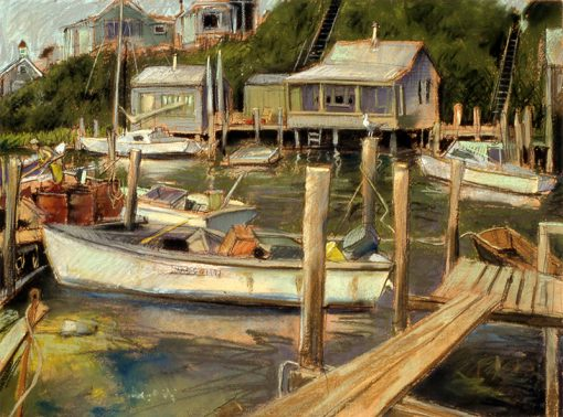 "Menemsha (Martha's Vineyard) 22"" x 29"" pastel on paper"