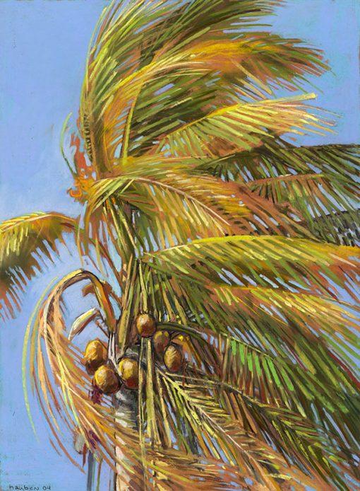 Windblown-Palm-24x18-pastel