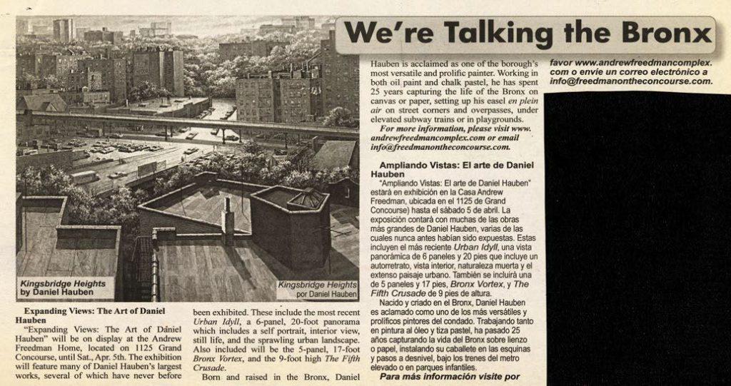 2014 0319 Bronx Free Press Expanding View Article Calendar web